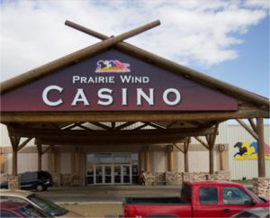 Front entrance of Prairie Wind Casino
