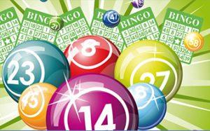 Bingo cards and bingo balls graphic