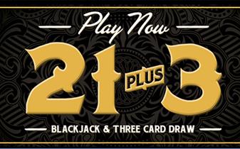 21 Plus 3 Blackjack and Three card draw graphic