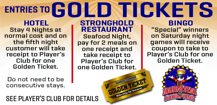 Entries to Golden Tickets