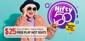Prairie Wind Casino June 2021 Promo - Nifty 50 Senior Day Thursdays