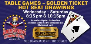 Table Games Golden Ticket
