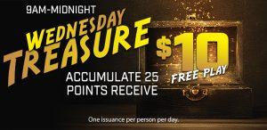 Prairie Wind Casino June 2021 Promo - Wednesday Treasure