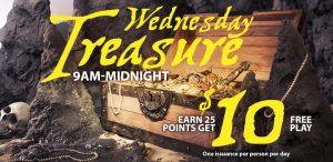 Prairie Wind Casino Wednesday Treasure promo