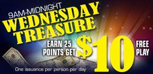 Wednesday Treasure promotion