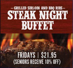 Steak Night Buffet Promotion