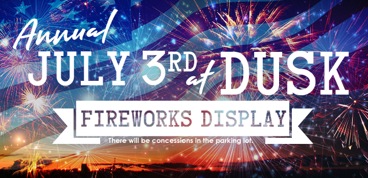July 3rd at Dusk Fireworks Display