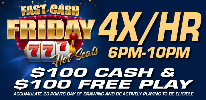 Fast Cash Friday Hot Seats Promo