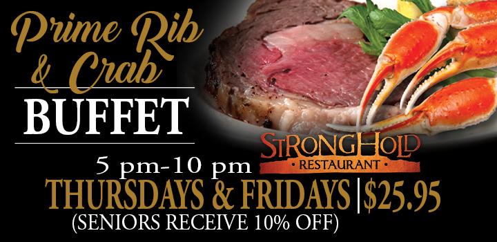 Prairie Wind Casino Prime Rib & Crab Buffet