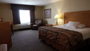 King bed hotel room at Prairie Wind Casino & Hotel
