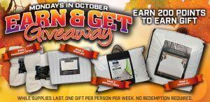 Earn & Get Giveaway October 2019