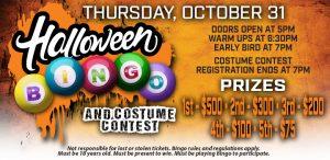 Prairie Wind Casino Halloween Bingo 2019 Promo