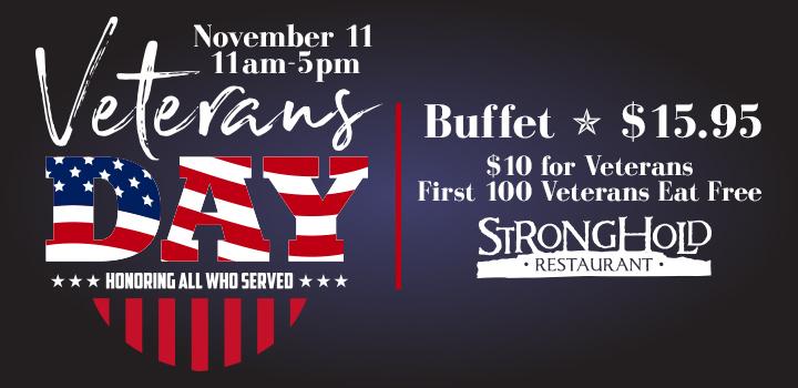 Prairie Wind Casino Veterans Day 2019 Buffet Special