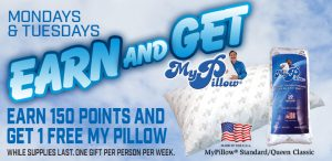 Prairie Wind Casino Earn and Get My Pillow Promo