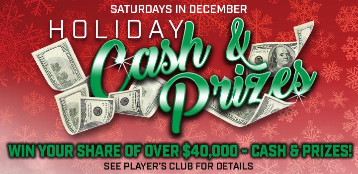 Prairie Wind Casino Holiday Cash & Prizes Promo
