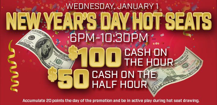 Prairie Wind Casino New Year's Day Hot Seats promo
