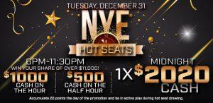 Prairie Wind Casino New Years Eve 2019 Hot Seats Promo
