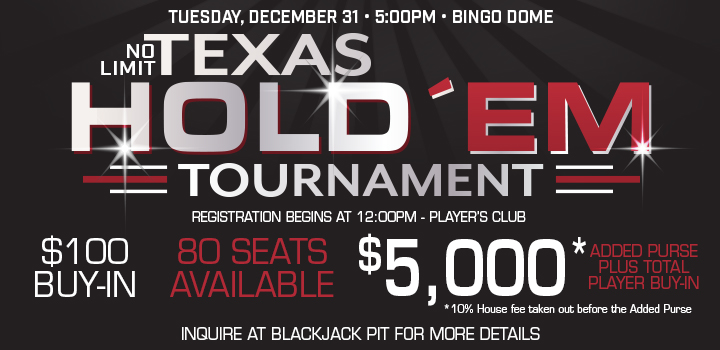 Prairie Wind Casino Texas Hold'em Tournament