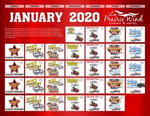 Prairie Wind Casino January 2020 promos