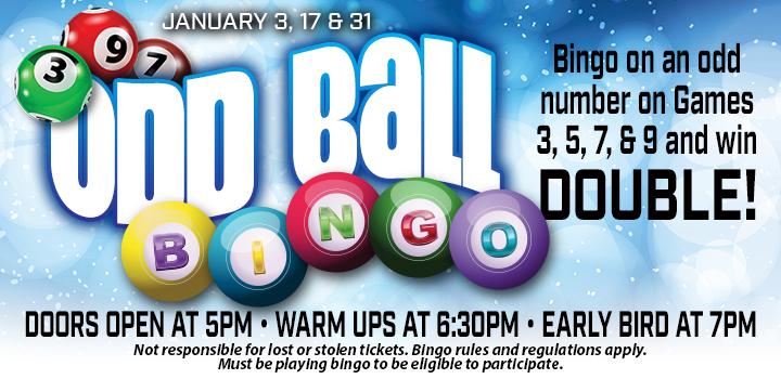 Prairie Wind Casino Odd Ball Bingo promo