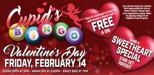 Prairie Wind Casino Valentine's Day 2020 Promo - Cupid's Bingo