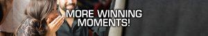 Woman winning at slot machine - PWC More Winning Moments!