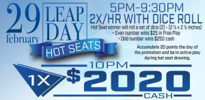 Prairie Wind Casino Leap Day 2020 Promo