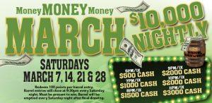 Prairie Wind Casino March 2020 Promo Money Money Money March