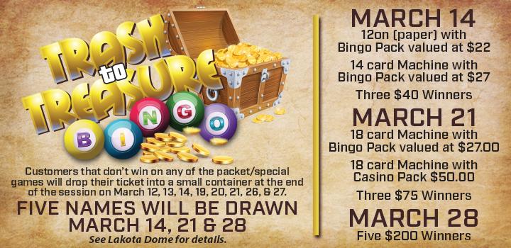 March 2020 Prairie Wind Casino Promo - Trash to Treasure