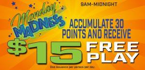 Prairie Wind Casino Monday Madness in June 2021