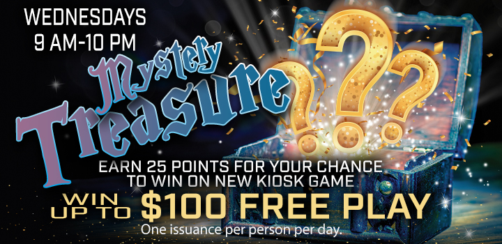 Mystery Treasure Wednesday Promo