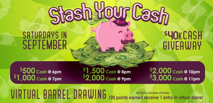 Stash Your Cash September 2021 Promo